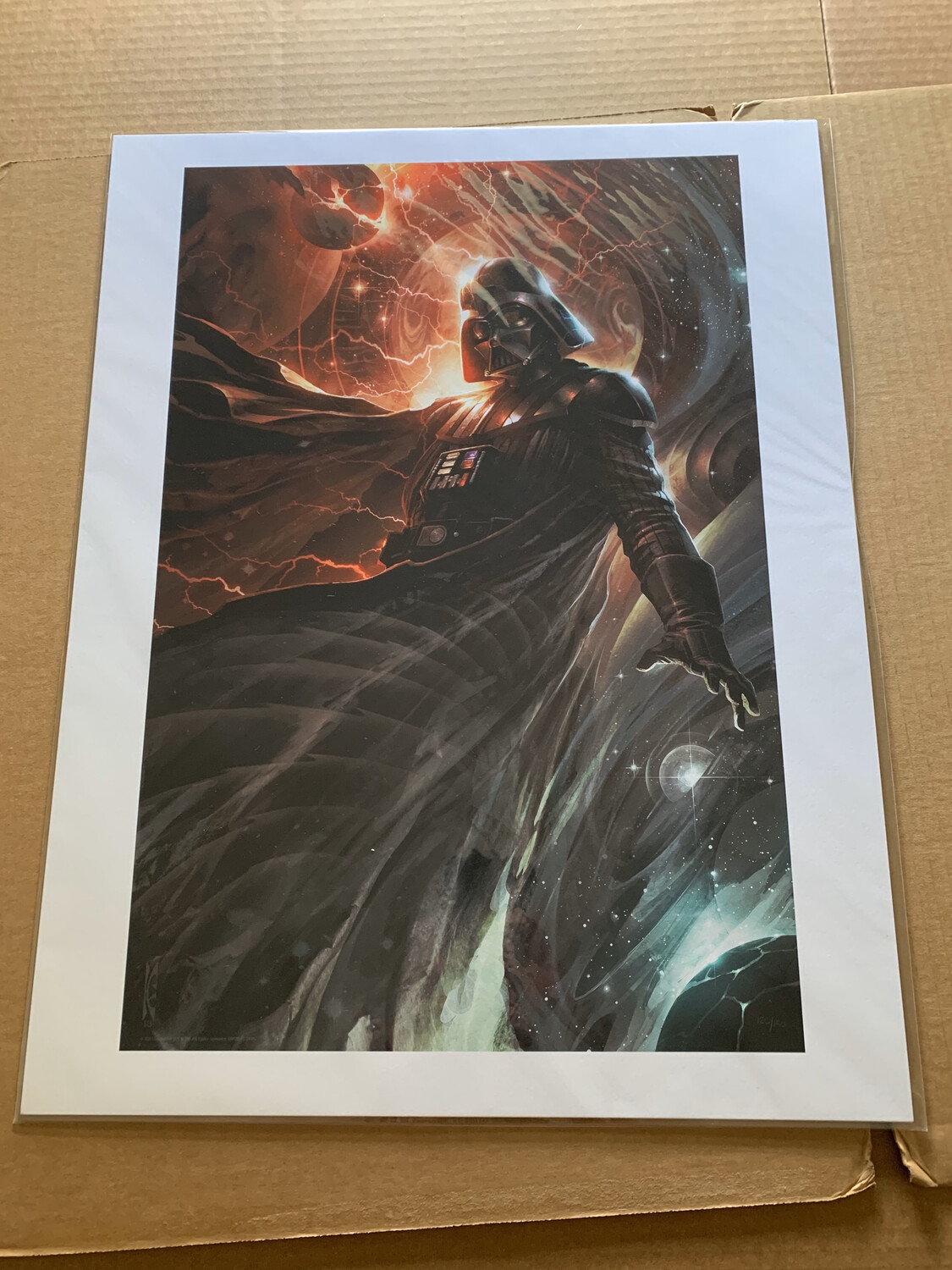 CENTER OF THE STORM #120 OF 150 BY RAYMOND SWANLAND WITH FREE SIGNED DARTH VADER PHOTO