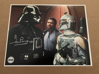 11X14 STAR WARS PHOTO SIGNED BY DAVE PROWSE