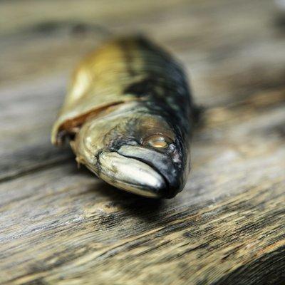 Kaldrøket- speket makrell - Rund