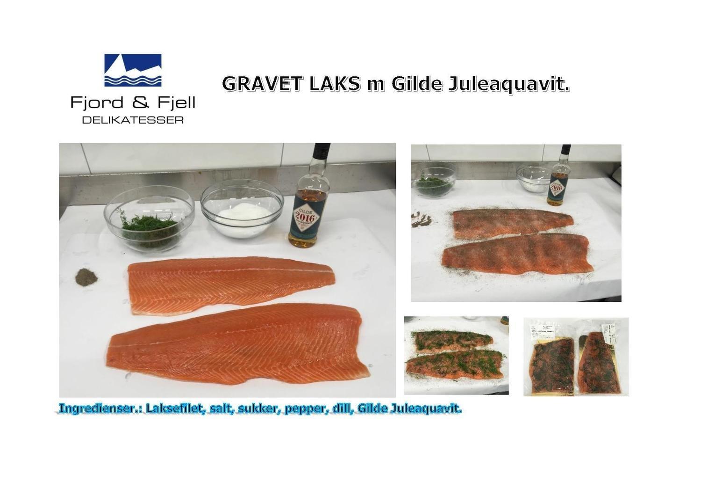 GRAVET LAKS m/ aquavit, halv side