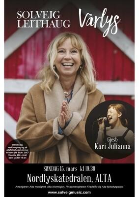 Solveig Leithaug Søndag 15. mars kl.19.30. NB! Skriv ut kvittering som billett.