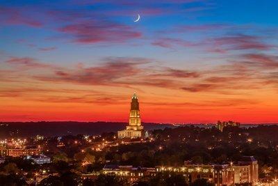 Masonic Temple Sunset