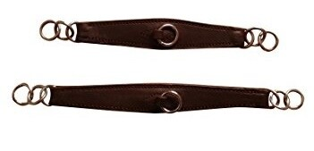 Shaped leather curb strap