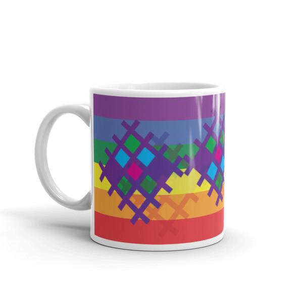"""""""Pride,"""" Mayan Weaving Pattern mug"""
