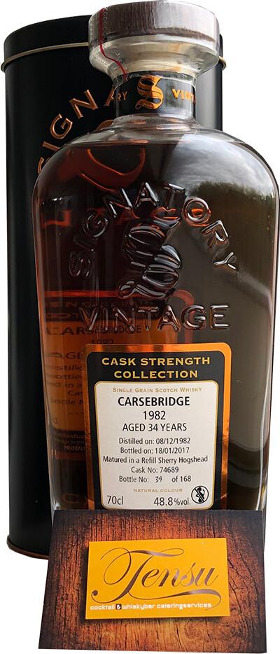"""Carsebridge 34 Years Old (1982-2017) """"Signatory"""" [CLOSED DISTILLERY]"""
