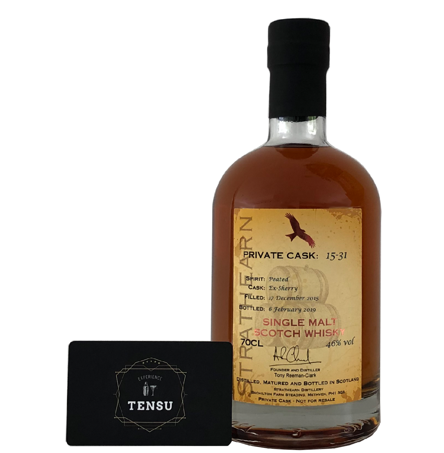 """Strathearn 3 Years Old (2015-2019) """"Private Cask 15-31"""""""