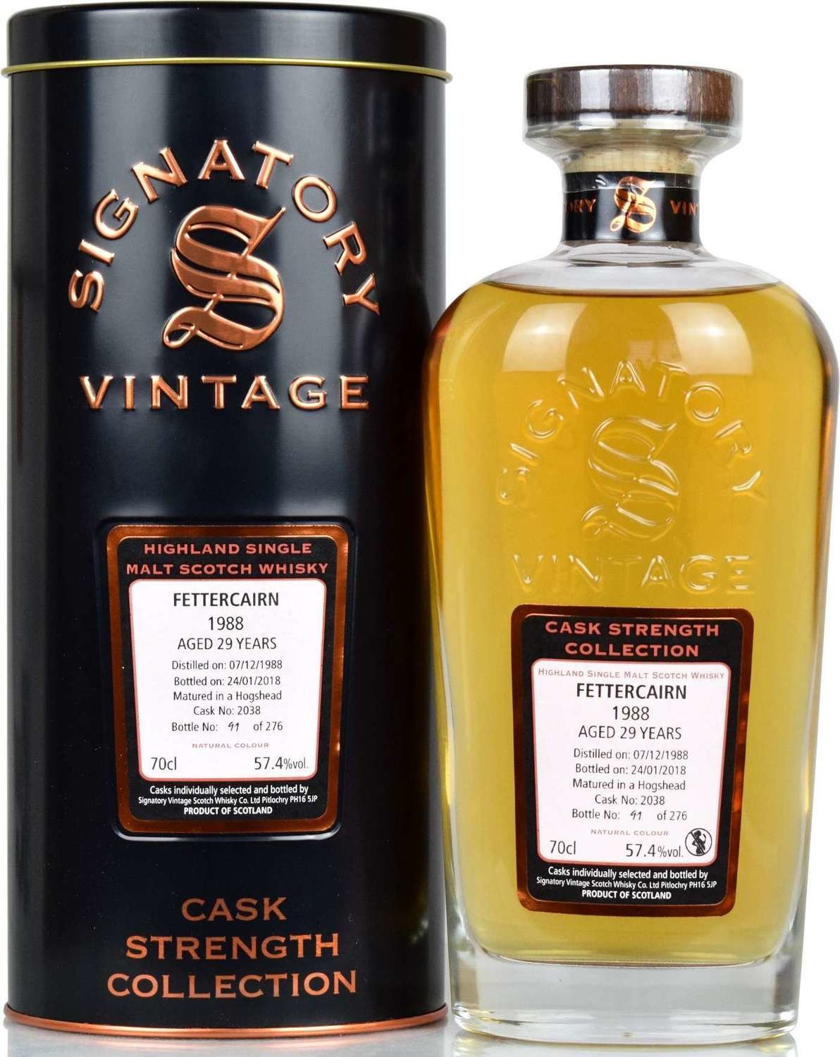 """Fettercairn 29 Years Old (1988-2018) """"Signatory"""""""