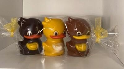 3 design ducks 2 fondant en 1 wit