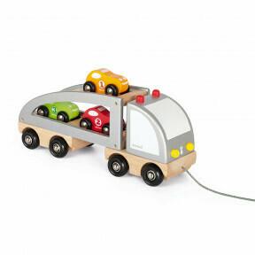 Camion met auto