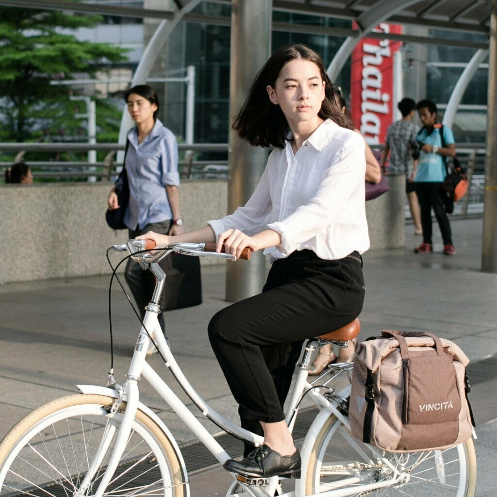 Bicycle Bag Single - Victoria  in Brown