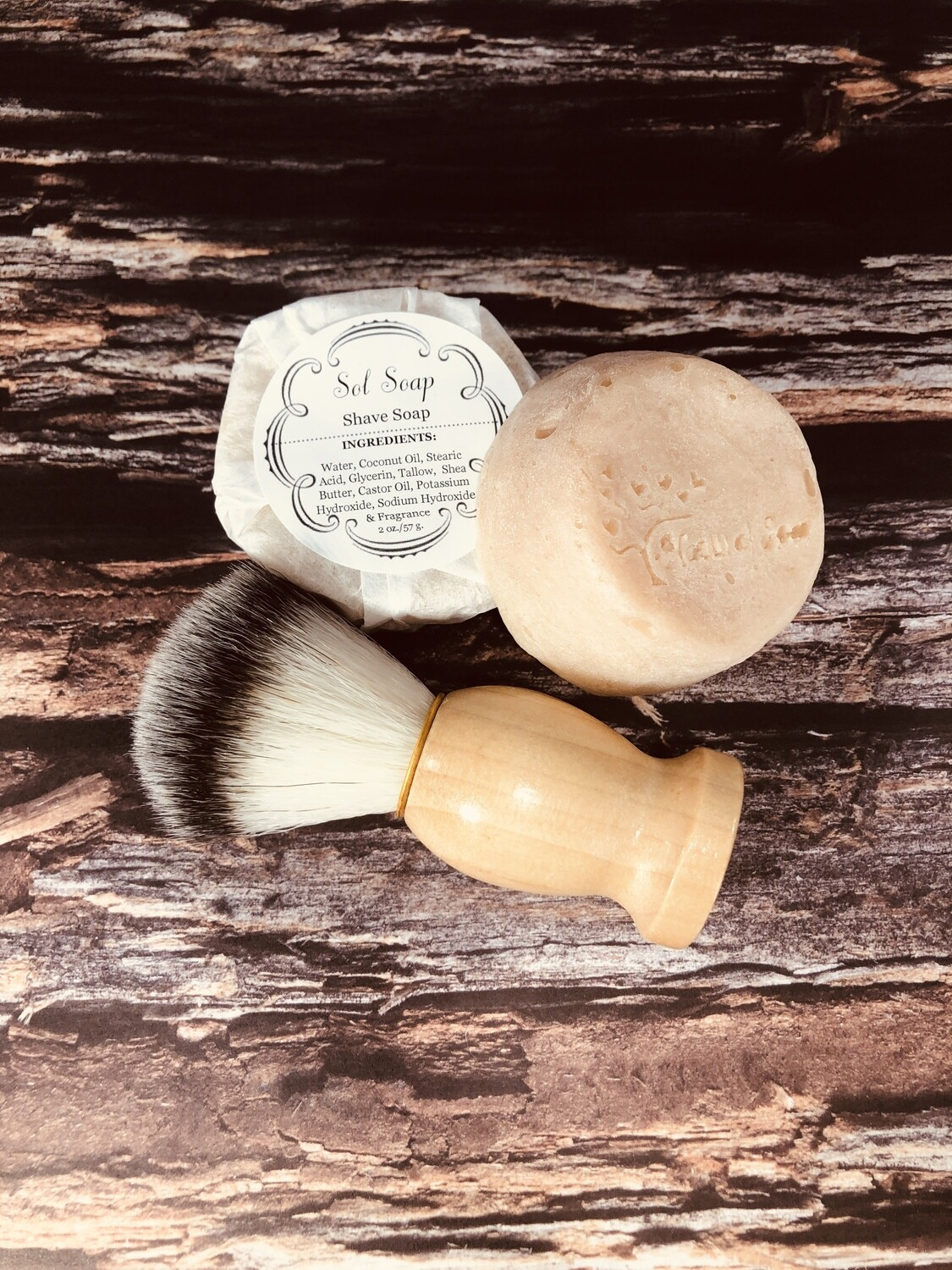 """""""Shave Soap"""" (scented in Rustic Woods and Rum)"""