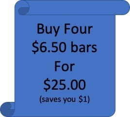 4 BARS for $25 (Only available for $6.50 priced bars)