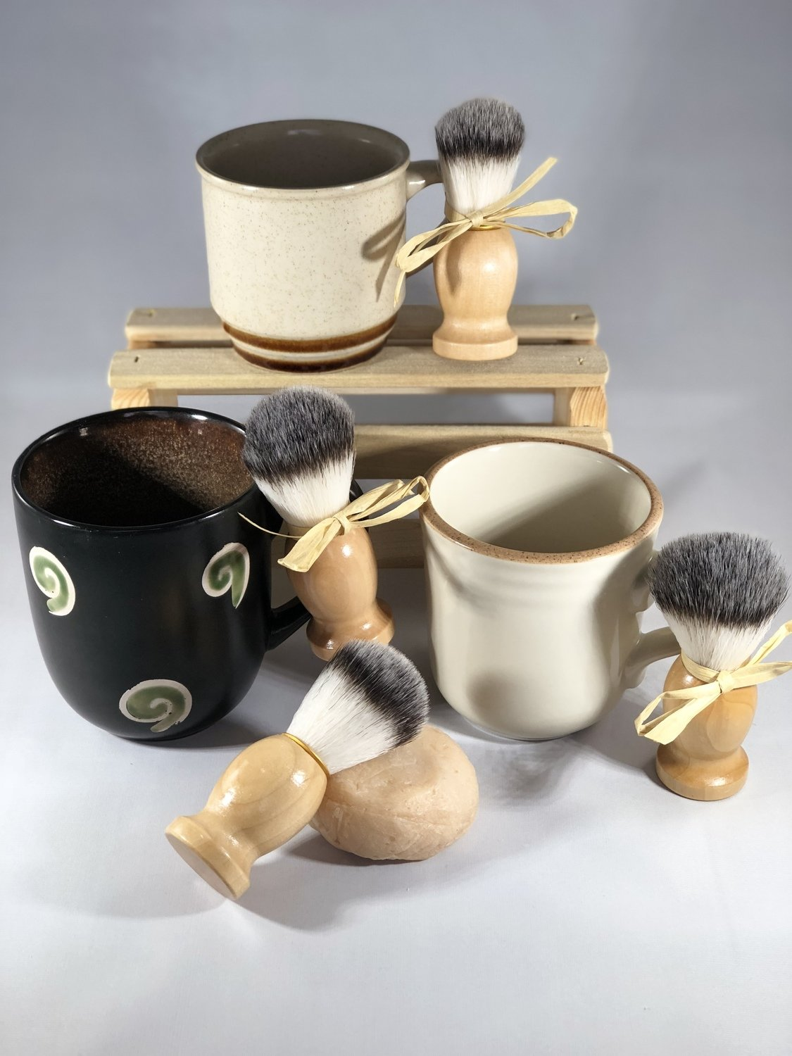 """Shave Soap Mug Gift Set"" (Scented in Rustic Woods and Rum)"