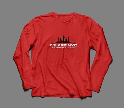 WE ARE NYC OFFICIAL RACE DAY RED LONG SLEEVE
