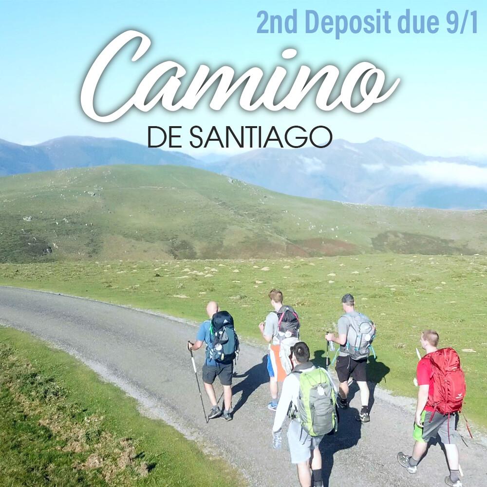 Camino de Santiago Experience 2nd Deposit