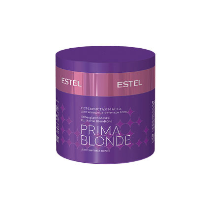 Серебристая маска для холодных оттенков блонд ESTEL PRIMA BLONDE, 300мл