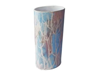 Vintage Andersen Design Tall Oval Column Vasei Rare Turquoise By Brenda Andersen