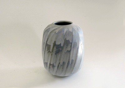 One of a Kind Ribbed Vintage Vase individually carved and decorated by Weston Neil Andersen