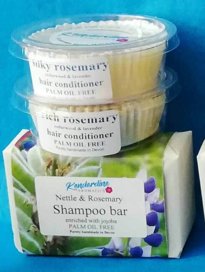 Shampoo +silky conditioner + rich conditioner
