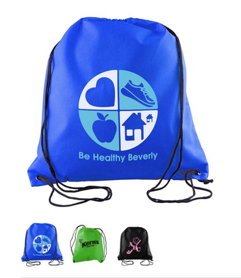 Starting at $1.53 ea 250-Sophomore Non Woven Drawstring Backpack