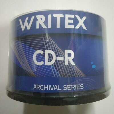 Writex Blank CD-R, Archival Series, Pack of 50-disk