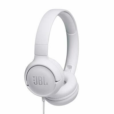 JBL Tune 500 on-ear Headphones, White