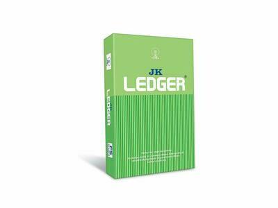 JK Ledger Paper - FS, 500 Sheets, 80 GSM, 1 Ream