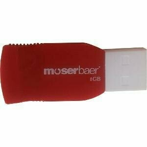 Moserbaer 8GB Pen Drive, Racer, 2.0