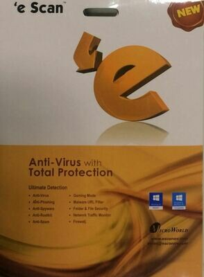 1 User, 3 Year, eScan Anti-Virus with Total Protection, V-11.x