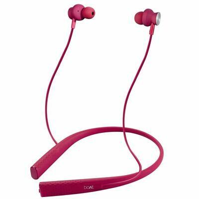 boAt Rockerz 275 Sports Bluetooth Earphone, Intense Pink
