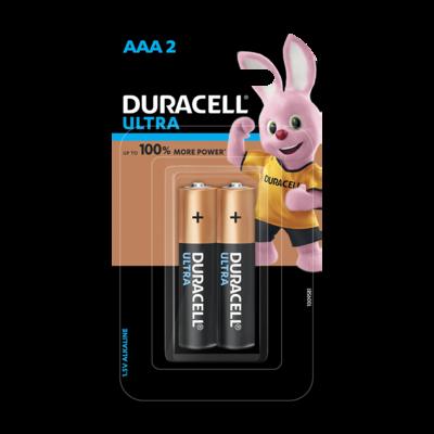 Duracell Ultra AAA, 2 Batteries, 1.5V Alkaline