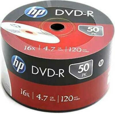 HP DVD Recordable DVD-R 4.7GB 50 Pack Wrap 4.7 GB