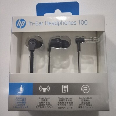 HP 100 in-Ear Headphones, Without Mic