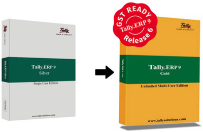 Tally ERP 9 Silver to Gold Upgrade