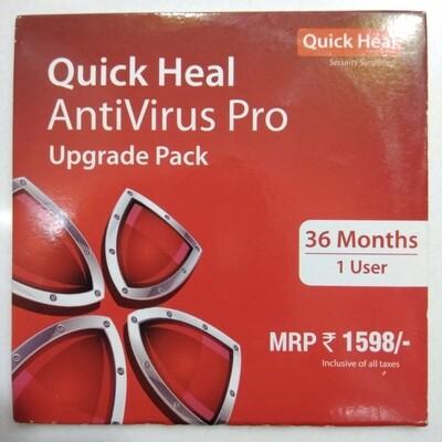 Renewal, 1 User, 3 Year, Quick Heal Antivirus Pro