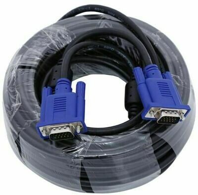 Haze 20mtr VGA male to male Cable, Black