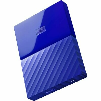 WD 2TB My Passport USB External Hard drive, Blue