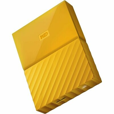 WD 2TB My Passport USB External Hard drive, Yellow