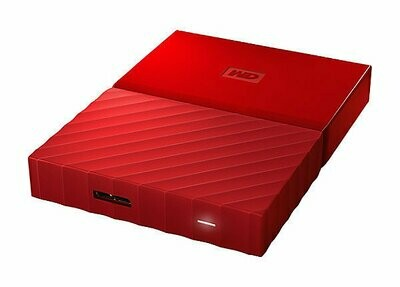 WD 2TB My Passport USB External Hard drive, Red