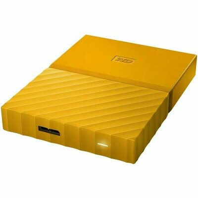 WD 1TB My Passport USB 3.0 External Hard drive, Yellow