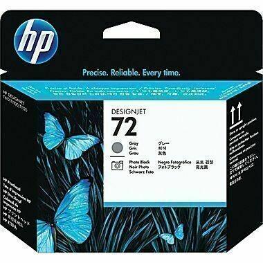 HP 72 Printhead, Gray and Photo Black