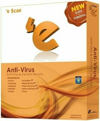 4 User, 3 Year, eScan Anti-Virus with Total Protection, V-11.x
