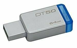 Kingston 64GB Pen Drive, 3.0, DT50, Metal