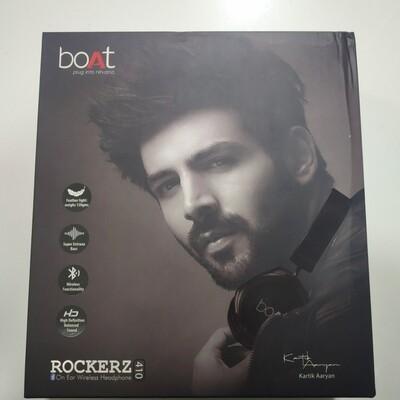 boAt Rockerz 410 Bluetooth On-Ear Headphones, Black