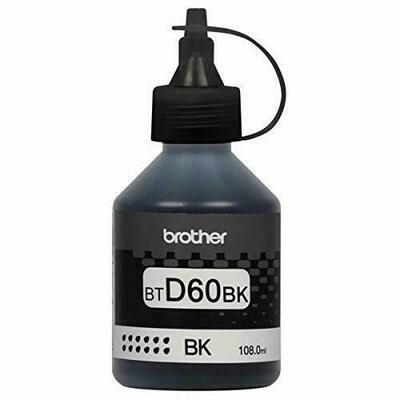 Brother ink Bottle, BT-D60BK, Black