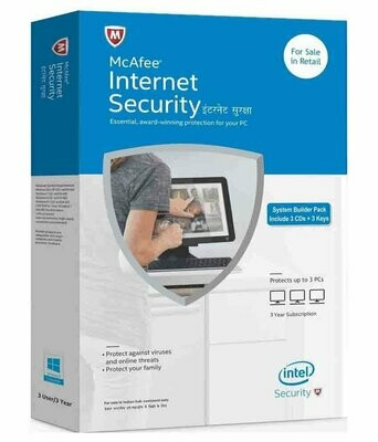 3 User, 3 Year, Mcafee Internet Security