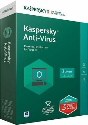 3 User, 1 Year, Kaspersky Antivirus
