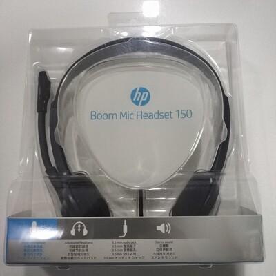HP 150 Boom Mic Headset, Black
