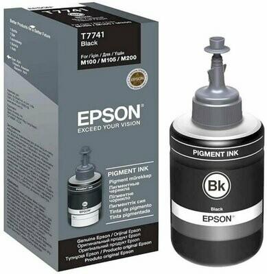 Epson ink Bottle, T7741, Black, For m100, m105, m200, m205, l605, l1455