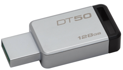 Kingston 128GB Pen Drive, 3.0, DT50, Metal